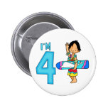 Surfer Dude 4th Birthday Pin