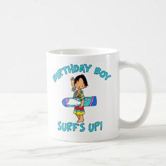 Surfer Dude Birthday Boy Mugs