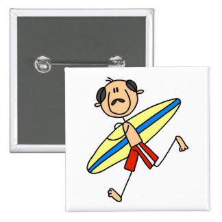Surfer Dude Gift 15 Cm Square Badge