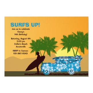 """Surfer Dude Invitation 5"""" X 7"""" Invitation Card"""