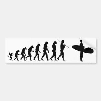 surfer_evolution bumper sticker