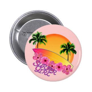 Surfer Girl 6 Cm Round Badge