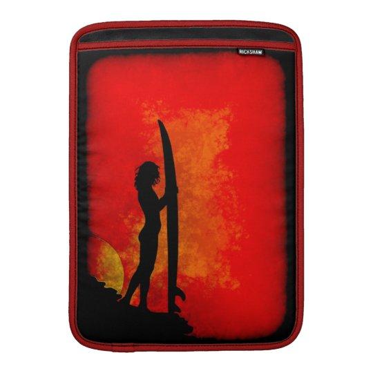 Surfer Girl at Sunset MacBook Air Sleeve