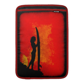 Surfer Girl at Sunset MacBook Sleeve