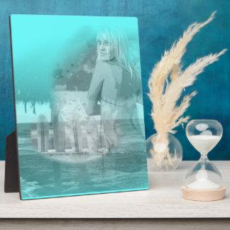 Surfer Girl Beach Scene Plaque