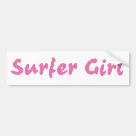 Surfer Girl Bumper Sticker