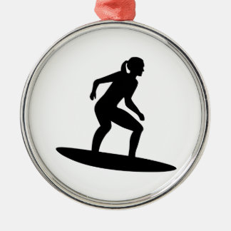 Surfer girl christmas ornament