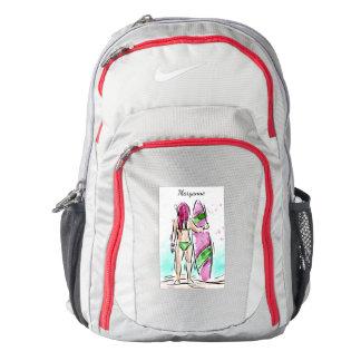 Surfer Girl custom name backpacks Backpack
