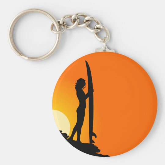 Surfer Girl Keychain