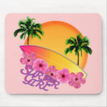 Surfer Girl Mouse Pad