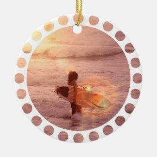 Surfer Girl Ornament