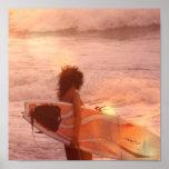 Surfer Girl Poster Print