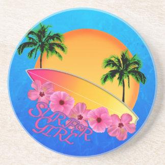 Surfer Girl Sandstone Coaster