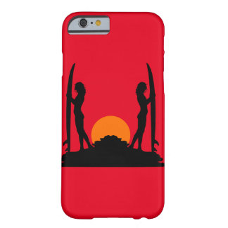 Surfer Girls Sunset Silhouette Barely There iPhone 6 Case