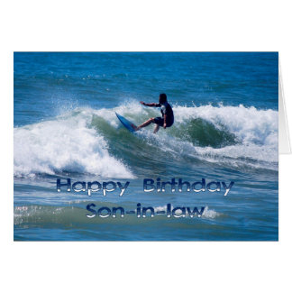 Surfer Happy Birthday Son-in-Law Card