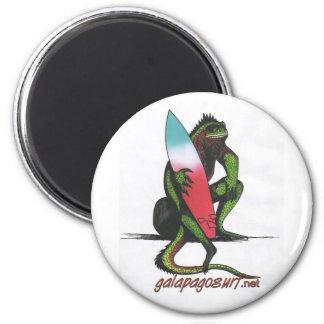 Surfer Iguana 6 Cm Round Magnet