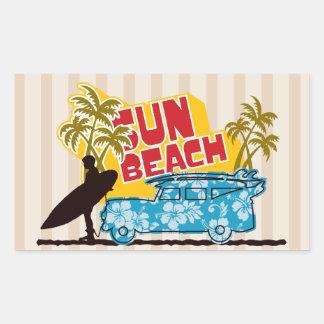 Surfer Illustration Stickers