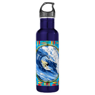 Surfer In Bamboo Circle 710 Ml Water Bottle