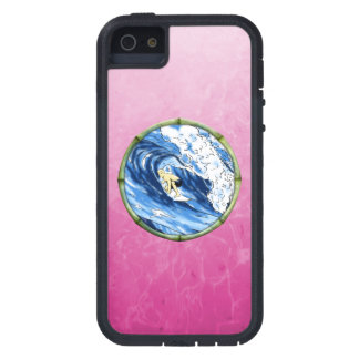 Surfer In Bamboo Circle iPhone 5 Case