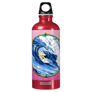 Surfer In Bamboo Circle SIGG Traveller 0.6L Water Bottle