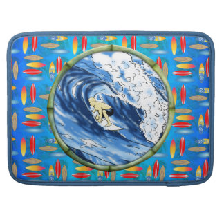 Surfer In Bamboo Circle Sleeves For MacBooks