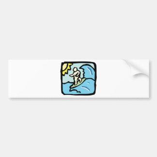 surfer joe car bumper sticker