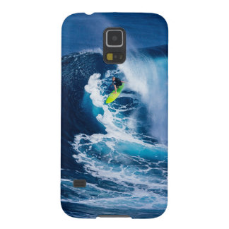 Surfer on Green Surfboard Case For Galaxy S5