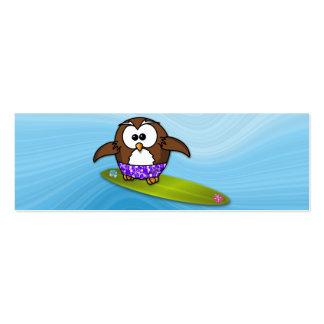 surfer owl pack of skinny business cards