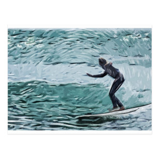 surfer postcard