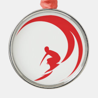 Surfer Red Christmas Ornament