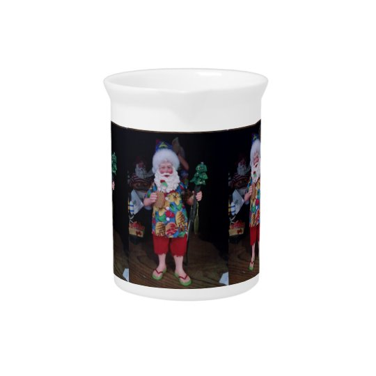 ****SURFER SANTA**** CHRISTMAS PITCHER