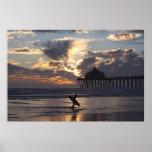 "Surfer "" Surf City Print"
