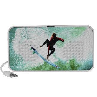 Surfer surfing brave and confident mini speaker