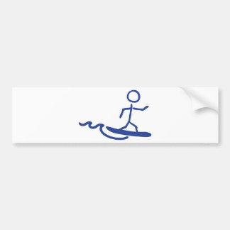 surfer surfing icon bumper sticker