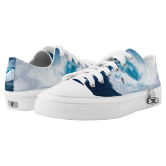 Surfer Surfing Ocean Waves Zipz Low Top Shoes Printed Shoes