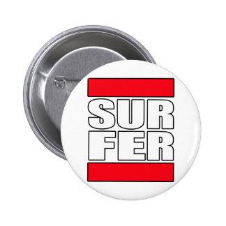 surfer surfing Surf t shirt 6 Cm Round Badge