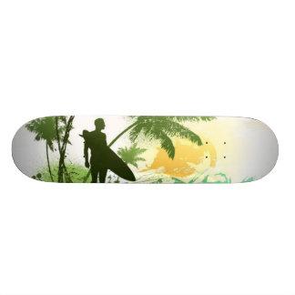 Surfer Theme Skate Board