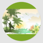 Surfer Theme Sticker