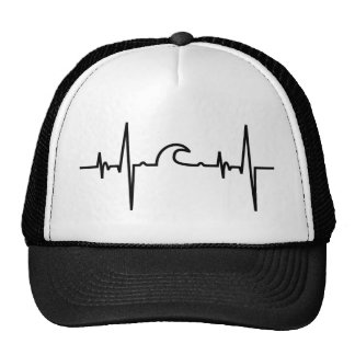 Surfer Trucker Cap heartline ELECTROCARDIOGRAM
