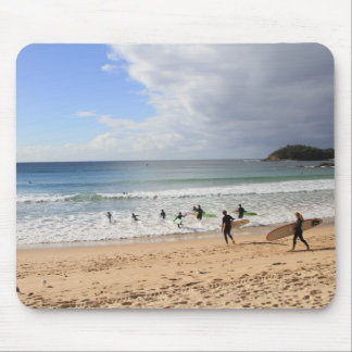 Surfers At Manly Beach, Australia Mouse Pad