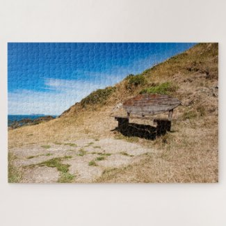 Surfers Bench Jigsaw Puzzle