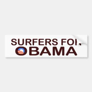 SURFERS FOR OBAMA BUMPERSTICKER BUMPER STICKER