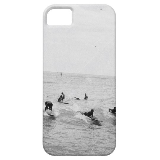 Surfers on Waikiki Beach, Hawaii, 1920s Photo iPhone
