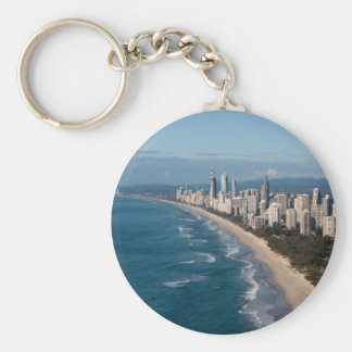 Surfers Paradise Gold Coast Queensland Australia Basic Round Button Key Ring