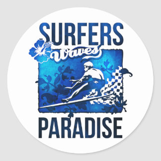 surfers paradise round sticker