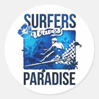 surfers paradise round sticker