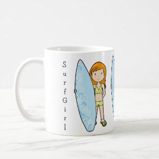 SurfGirl Basic White Mug