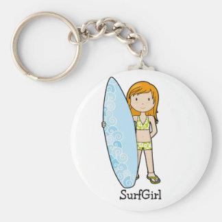 SurfGirl Basic Round Button Key Ring
