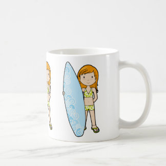 SurfGirl Coffee Mugs