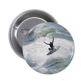 Surfin 6 Cm Round Badge